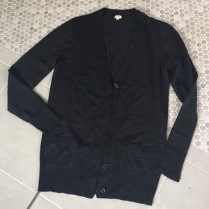J. Crew cardigan sweater dark gray M